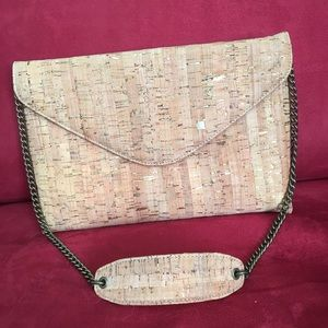 J Crew cork shoulder bag, New with tags